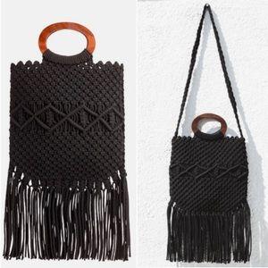 🆕Danielle Nicole Black Macrame Handbag